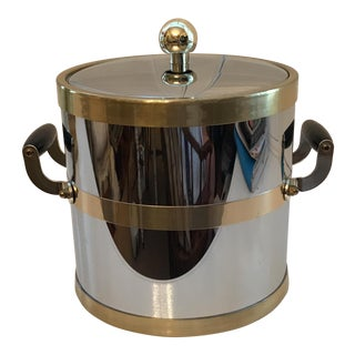 Kraftware NYC Stainless & Brass Ice Bucket