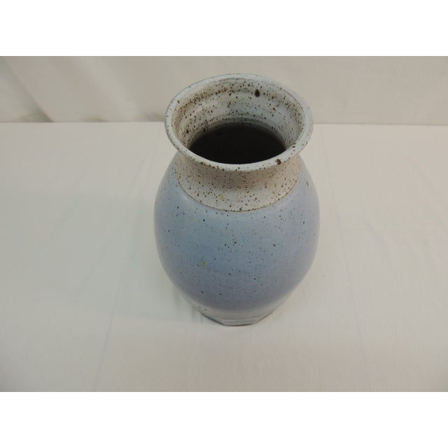 Vintage Mid Century Modern Tall Pottery Vase - Image 3 of 4