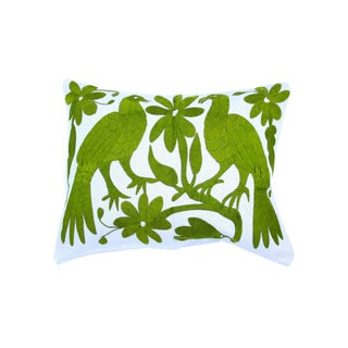 Green Handwoven Otomi Pillow Cover