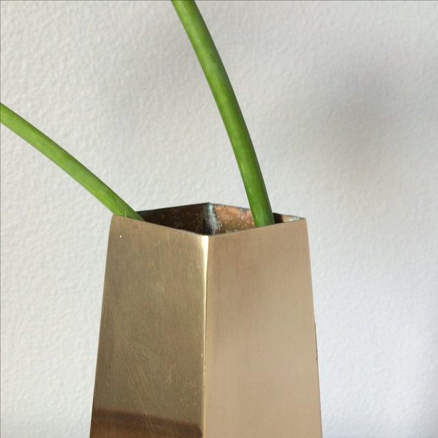 Vintage Brass Vase - Image 9 of 10