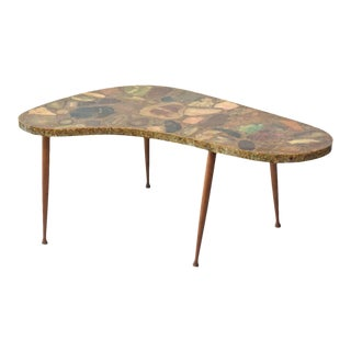 Italian Modern Specimen Marble, Resin and Walnut Low Table, Aldo Tura