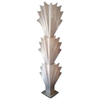 Monumental Rougier Seashell Floor Lamp