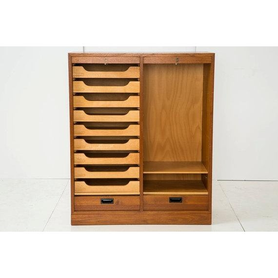 Danish Modern File Storage With 2 Tambour Doors - Image 4 of 6