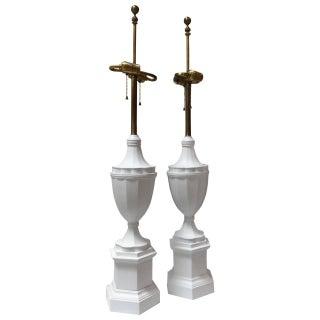 Matte Plaster Finish Mid-Century Lamps