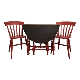 Vintage Gate Table & 2 Chairs - Set of 3
