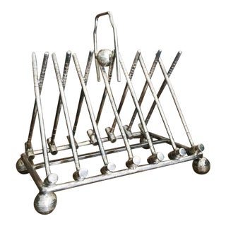 Antique Silver Plated Figural Polo Toast Rack