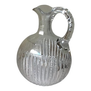 Vintage Etched Crystal Decanter or Pitcher