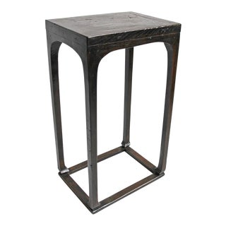 Tall Carved Wood Pedestal Table