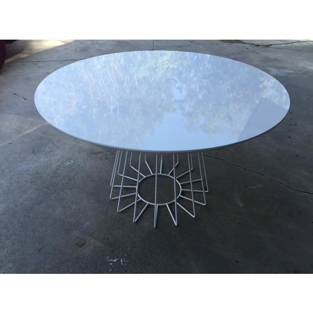 CB2 Ceci Thompson White Compass Dining Table - Image 5 of 5
