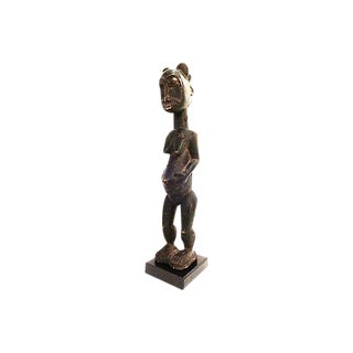 Old Baule Fertility Wood Sculpture