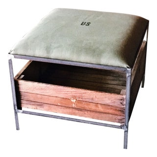 US Army Ottoman Coffee Table
