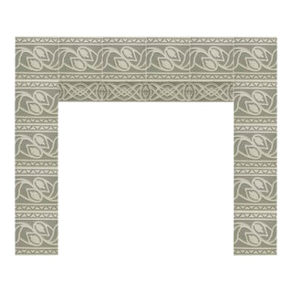 Salvaged Mint Green & White Floral Surround - Set of 14 Tiles
