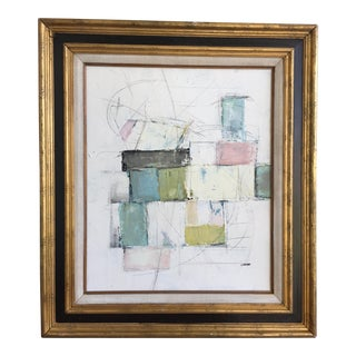 Abstract Pastel Mixed Media Painting