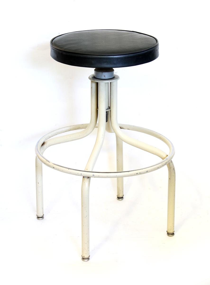 Off White Vintage Metal Stool Chairish