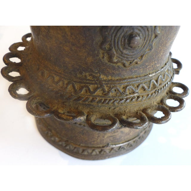 Bronze African Baule Ivory Coast Currency Cuff - Image 4 of 7