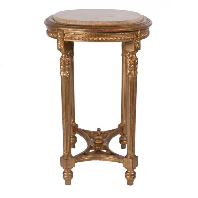 Italian Louis XVI Style Gilt Side Table - Image 3 of 4