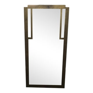 Aged Art Deco Style Metal Mirror