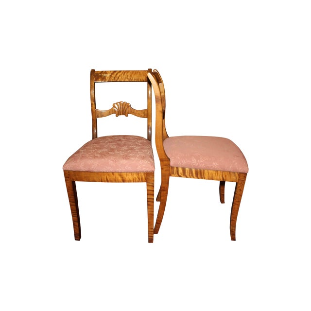 Image of Armless Biedermeier Style Dining Chairs - Set of 8