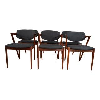 Set of Six Kai Kristiansen for Schou Andersen Rosewood Dining Chairs