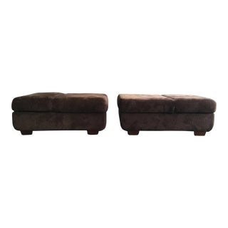 Asian Style Convertible Ottomans - A Pair