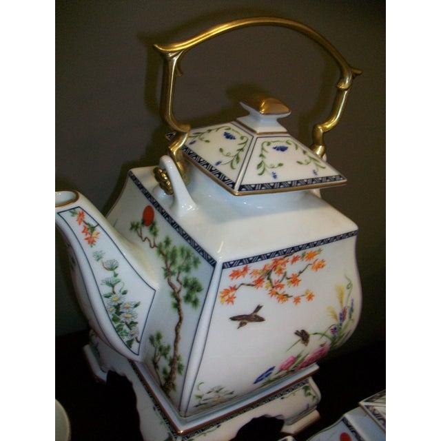 Franklin Mint Japanese Style Porcelain Tea Set - Image 8 of 11