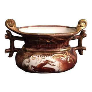 Belgian Gilded Stag Vase