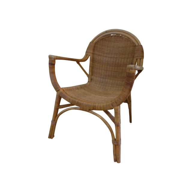 Vintage Rattan & Bamboo Chair - Image 1 of 8