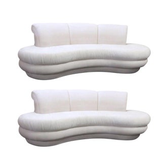 Adrian Pearsall for Comfort Designs Curved Kidney Sofas - a Pair Available