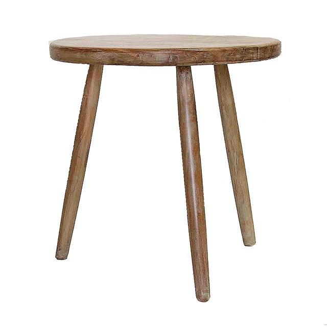 Round Teak Cricket Table - Image 2 of 3