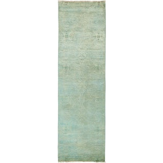 Over-Dyed Hand Knotted Runner - 3' X 10'4""