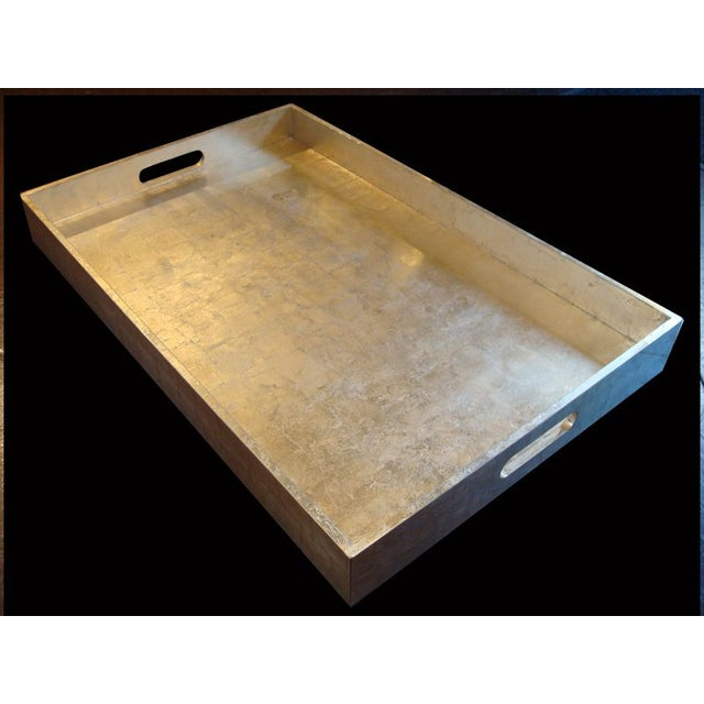 Image of X-Large Silvery Gold Tray