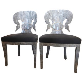 Mid-Century Tessellated Stone Chairs - A Pair
