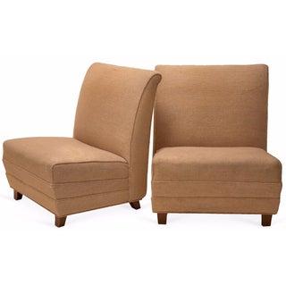 Eugene Schoen Slipper Chairs - A Pair