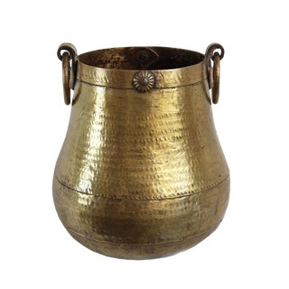 Vintage Brass Hammered Pot