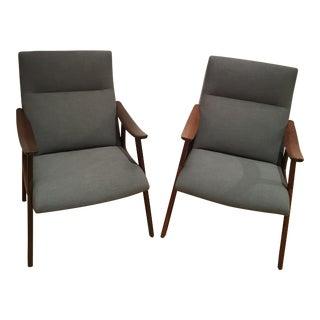 Danish Modern Teak Side Chairs - A Pair