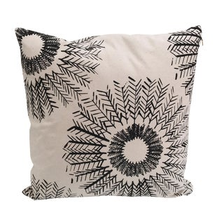 Black & Cream Floral Stitched Pillow