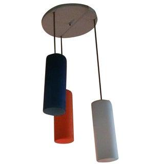 Vintage Modernist Cased Glass Murano Hanging Light