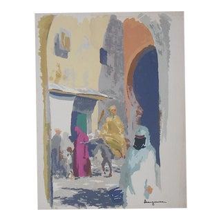 Vintage Mark Coomer Screenprint, Morocco