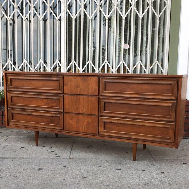 Vintage Walnut Dresser - Image 3 of 6