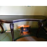 Image of Dessin Fournir Carved Scroll Legs Console Table