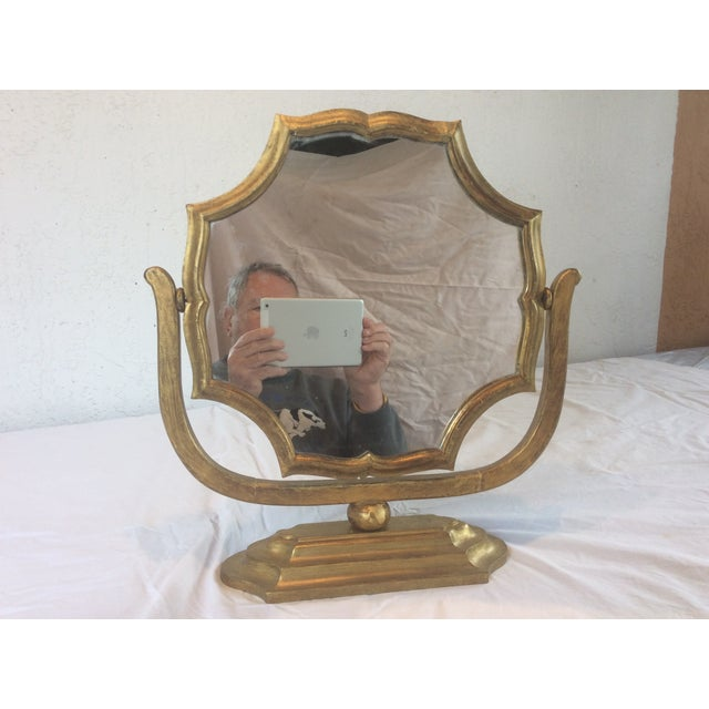 Gilt Wood Table Mirror - Image 2 of 8