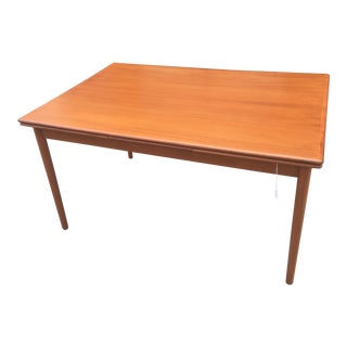 Danish Modern Draw Leaf Dining Table