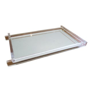 Art Deco Lucite & Mirrored Vanity Tray