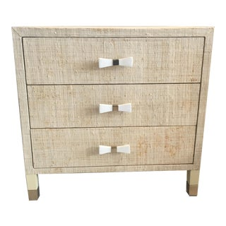 Natural Grasscloth Nightstand