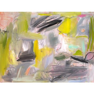 """Trixie Pitts Abstract Oil Painting """"Summer in the City"""""""