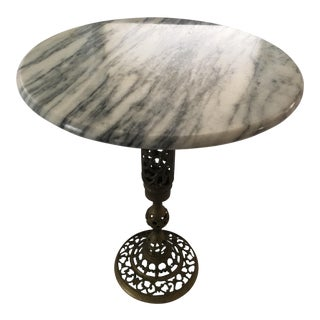 Marble & Brass Tulip Side Table