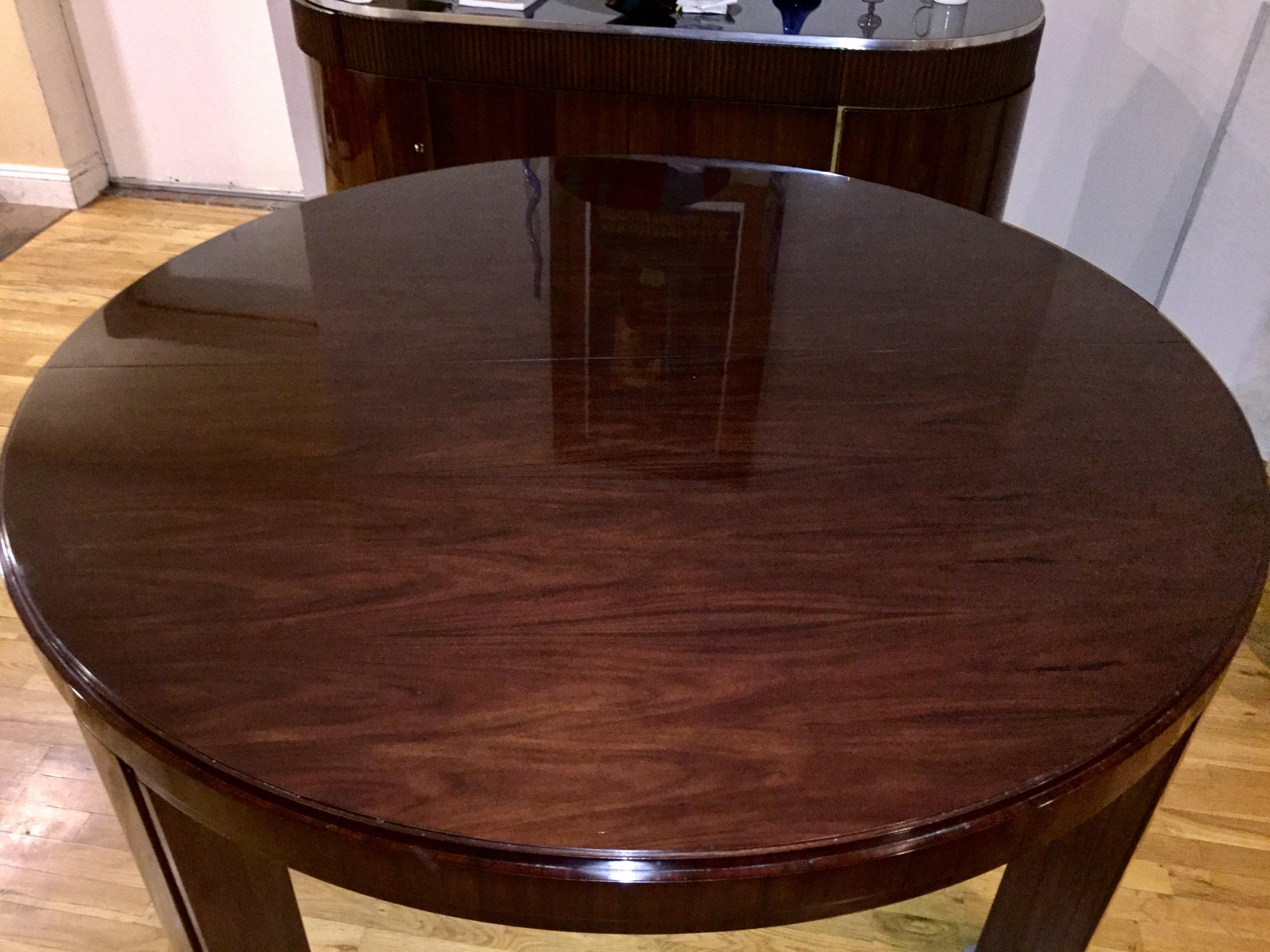 Ralph Lauren Macassar Ebony Extendable Round Dining Table   Image 3 Of 11