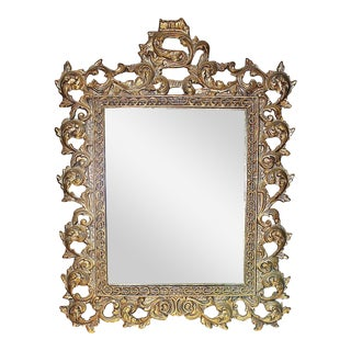 Cast Brass Wall Mirror