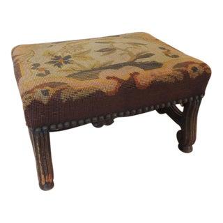 19th Century Italian Tapestry Stool
