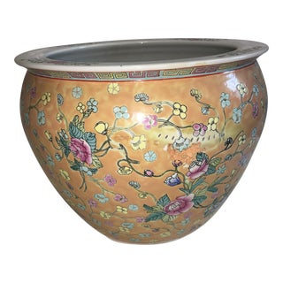 Painted Chinese Floral Jardiniere